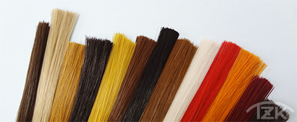 増毛用人工毛はスタイルアレンジも自由自在な全13色のバリエーション